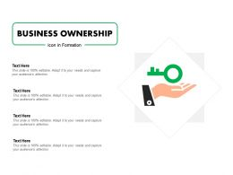Business Ownership Icon In Formation