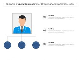 Business Ownership Structure For Organizations Operations Icon