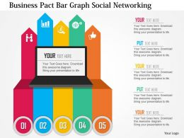 Business Pact Bar Graph Social Networking Flat Powerpoint Design