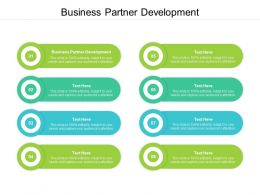 Business Partner Development Ppt Powerpoint Presentation Professional Backgrounds Cpb