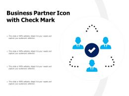 Business Partner Icon With Check Mark