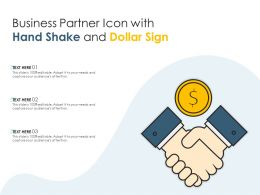 Business Partner Icon With Hand Shake And Dollar Sign