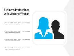 Business Partner Icon With Man And Woman