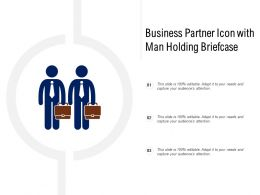 Business Partner Icon With Man Holding Briefcase