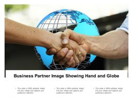 Business Partner Image Showing Hand And Globe