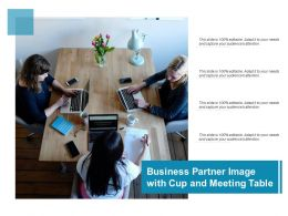 Business Partner Image With Cup And Meeting Table