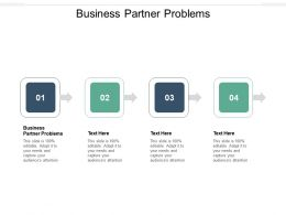 Business Partner Problems Ppt Powerpoint Presentation Visuals Cpb