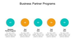 Business Partner Programs Ppt Powerpoint Presentation Diagram Graph Charts Cpb