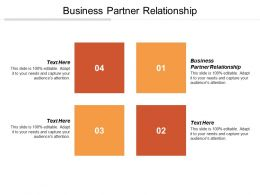 Business Partner Relationship Ppt Powerpoint Presentation File Diagrams Cpb