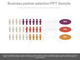 Business Partner Selection Ppt Sample