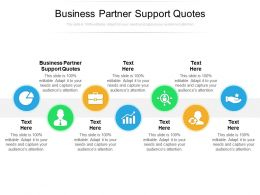 Business Partner Support Quotes Ppt Powerpoint Presentation Styles Gallery Cpb