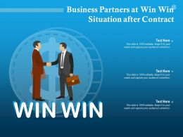 Business Partners At Win Win Situation After Contract