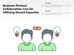 Business Partners Collaboration Icon For Utilizing Shared Expertise