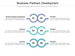 Business Partners Development Ppt Powerpoint Presentation Pictures Graphics Example Cpb