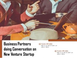 Business Partners Doing Conversation On New Venture Startup