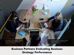 Business Partners Evaluating Business Strategy Performance