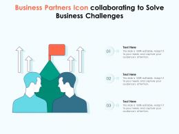 Business Partners Icon Collaborating To Solve Business Challenges