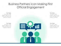 Business Partners Icon Making First Official Engagement