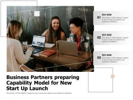 Business Partners Preparing Capability Model For New Start Up Launch