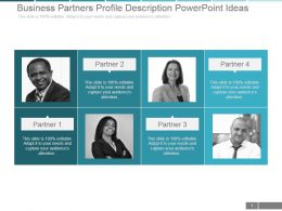 Business Partners Profile Description Powerpoint Ideas