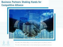 Business Partners Shaking Hands For Competitive Alliance