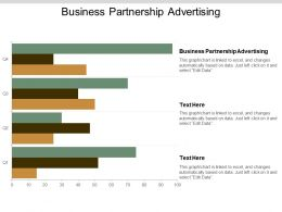 Business Partnership Advertising Ppt Powerpoint Presentation Gallery Summary Cpb