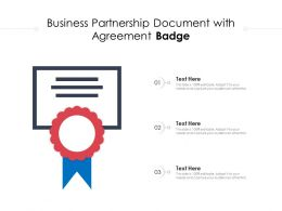 Business Partnership Document With Agreement Badge