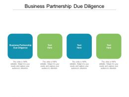 Business Partnership Due Diligence Ppt Powerpoint Presentation File Outline Cpb