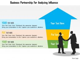 Business Partnership For Analyzing Influence Flat Powerpoint Design