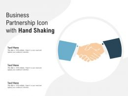 Business Partnership Icon With Hand Shaking