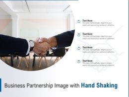 Business Partnership Image With Hand Shaking