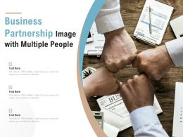 Business Partnership Image With Multiple People
