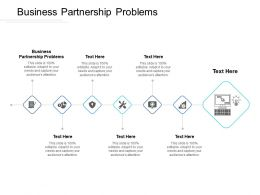 Business Partnership Problems Ppt Powerpoint Presentation Icon Graphic Tips Cpb