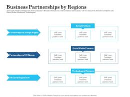 Business Partnerships By Regions Ppt Presentation Pictures Icons