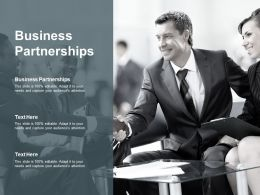 Business Partnerships Ppt Powerpoint Presentation Designs Cpb