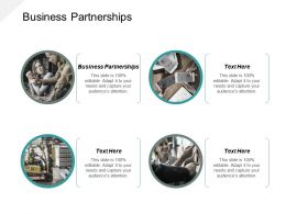 Business Partnerships Ppt Powerpoint Presentation Ideas Objects Cpb