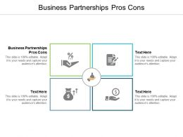 Business Partnerships Pros Cons Ppt Powerpoint Presentation File Smartart Cpb