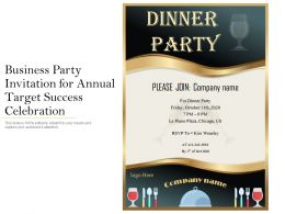 Business Party Invitation For Annual Target Success Celebration