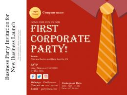 Business Party Invitation For New Business Launch