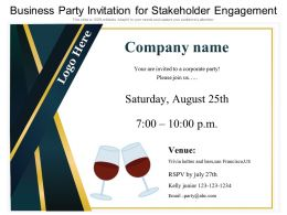 Business Party Invitation For Stakeholder Engagement