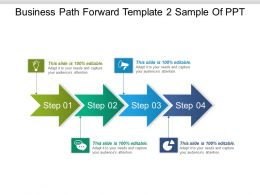 Business Path Forward Template 2 Sample Of Ppt