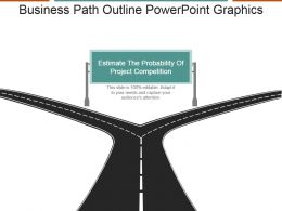 Business Path Outline Powerpoint Graphics