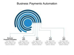 Business Payments Automation Ppt Powerpoint Presentation Model Portfolio Cpb