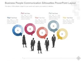 Business People Communication Silhouettes Powerpoint Layout