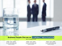 Business People Discuss On Contract Negotiation For Closing Deal