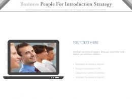 Business People For Introduction Strategy Powerpoint Slides
