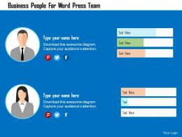 Business People For Word Press Team Flat Powerpoint Design