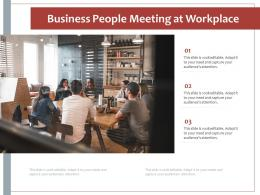 Business People Meeting At Workplace