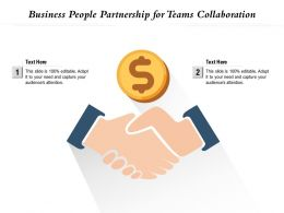 Business People Partnership For Teams Collaboration