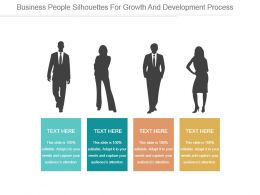 Business People Silhouettes For Growth And Development Process Ppt Slide